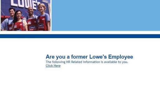 MyLoweslife.com Former Employee Portal