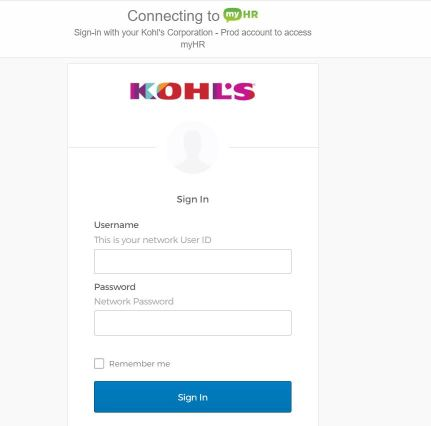 Myhr.kohls.com Login