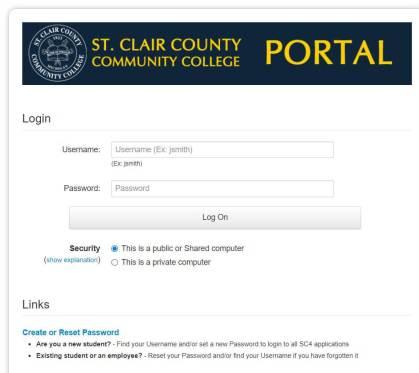 Sc4 Student Portal Login