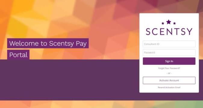 Scentsy Pay Portal
