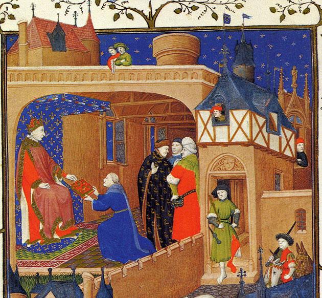 Image result for medieval manuscript gift-giving