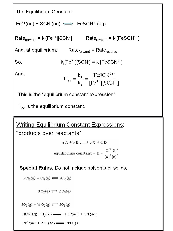 Equilibrium Constant Worksheet Worksheets Tutsstar