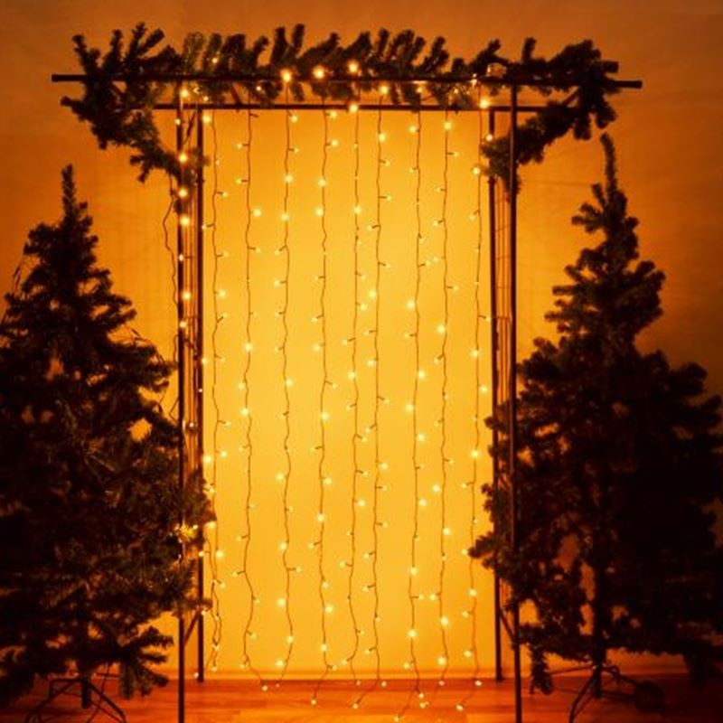 Tenda luminosa natale catene luminose luci led tende con 8 modalità di illuminazione per esterno/interno, addobbi natalizi per la casa,camera da letto. Tenda Luminosa Di Natale Cascata Luci Led Per Esterno