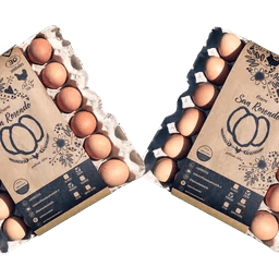 Pack de 2 Bandejas de Huevos San Rosendo Categoría Segunda - Tienda Gourmet Emporio LaMarta