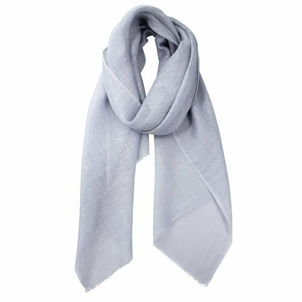 Zara Linen Scarf Silver