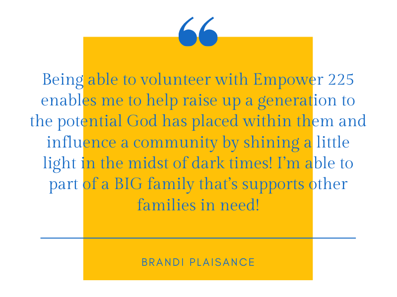 Brandi Plaisance Volunteer Quote