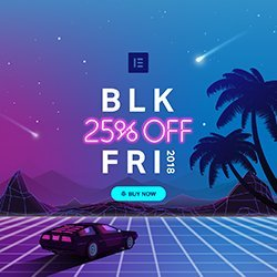 Elementor Black Friday Sale 2018