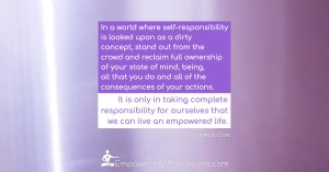 Meme - In a world where self-responsibility is a dirty word - Page