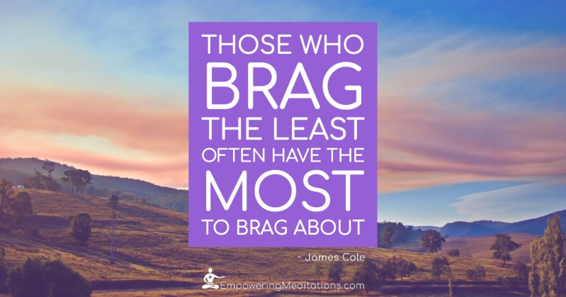 Meme - Those who brag the least - Page