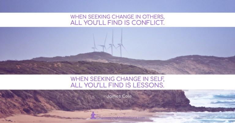 Meme - When seeking change in others - Page