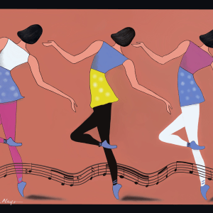 "Dancers With Music Signed 12"" X 16"""