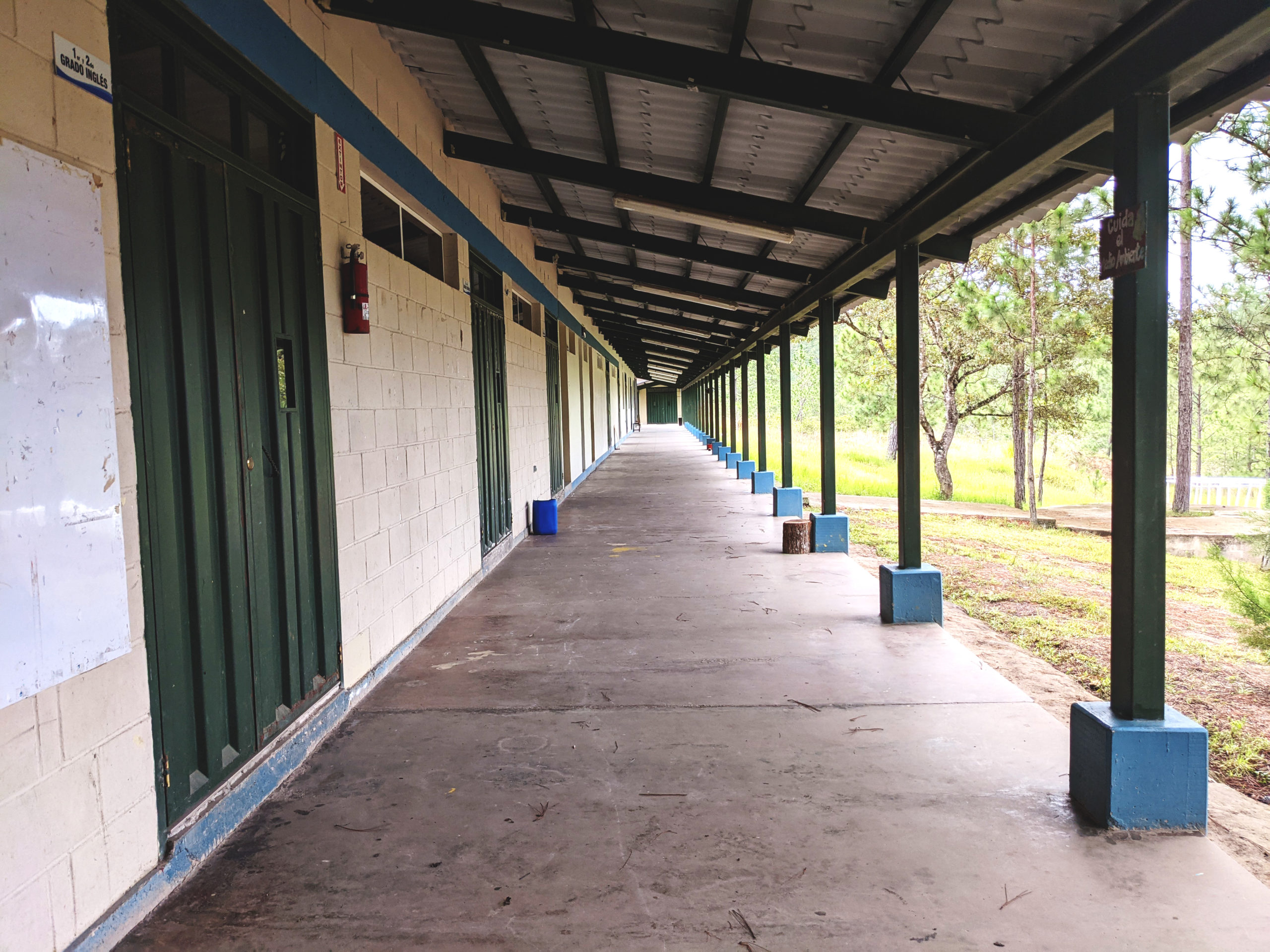 These halls soon be filled with students once the La Providencia school opens!