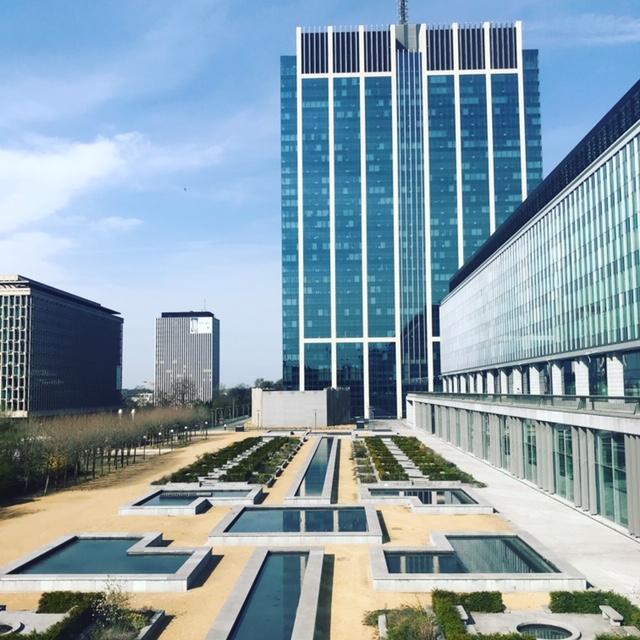 Les contrastes de Bruxelles : la Tour des finances