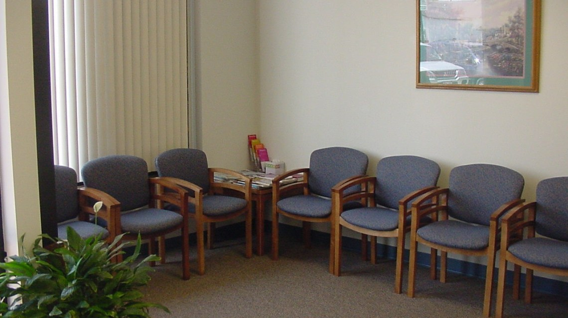 sala de espera dos consultórios