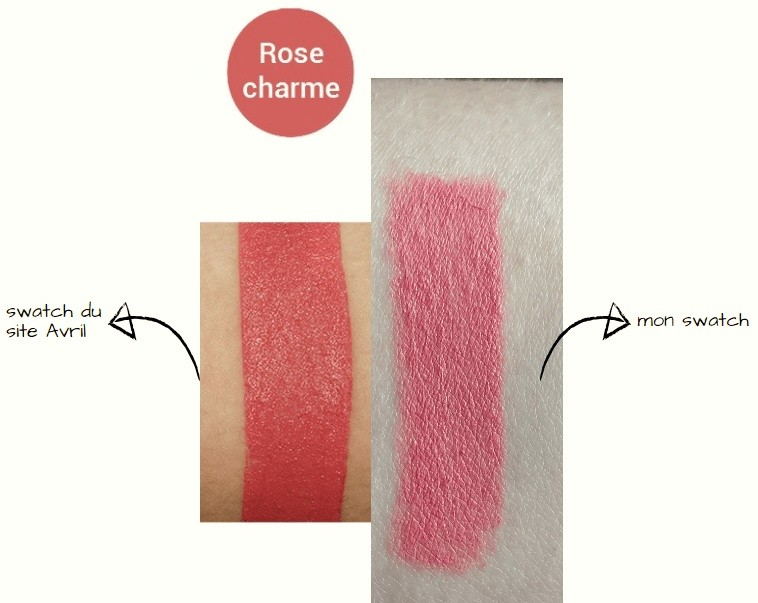 comparatif swatch rose charme