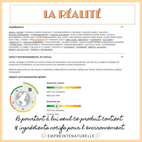 Garnier et son impact environnemental