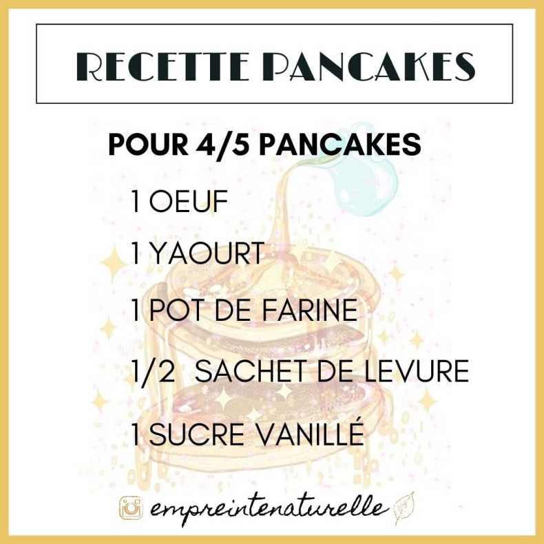 recette pancake yaourt facile