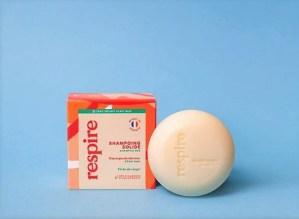 shampoing solide pèche du verger Respire
