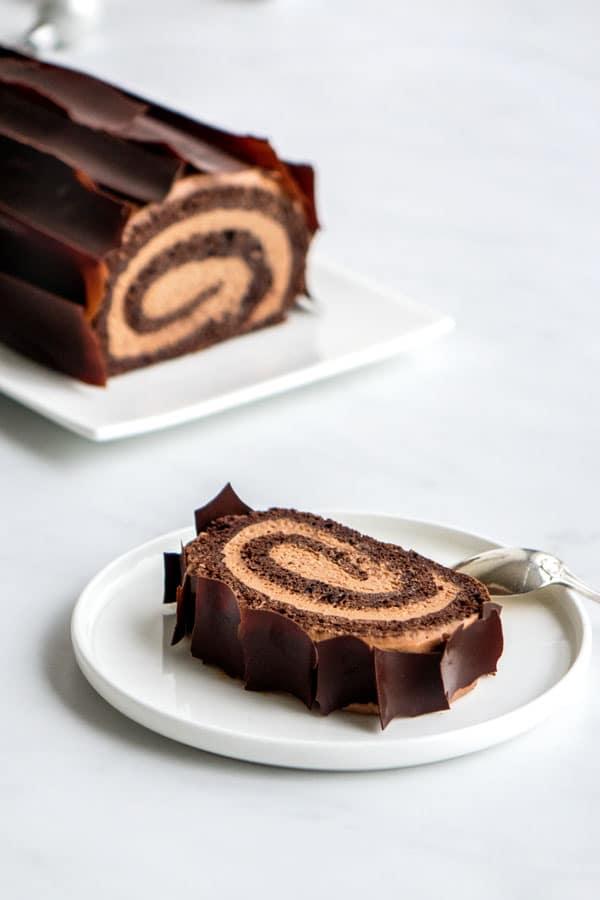 buche roulee au chocolat