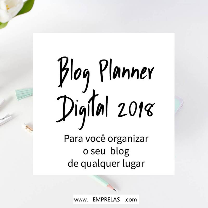 Blog planner Digital 2018