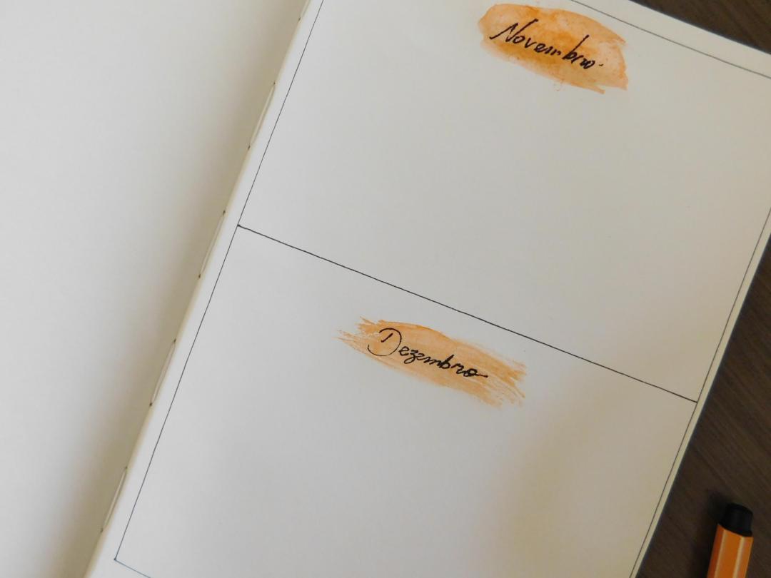 Bullet journal-meses
