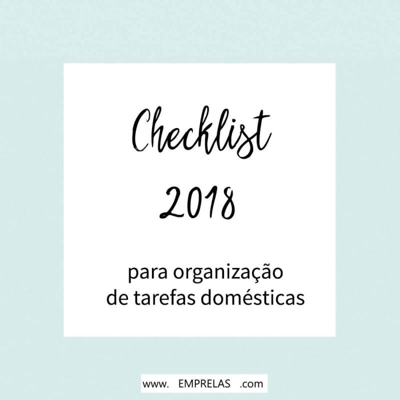 Checklist casa organizada 2018