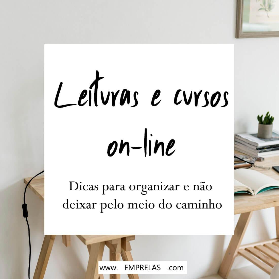 organizar leituras e cursos on-line
