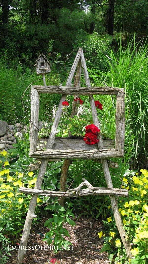 Garden Art Easel Idea Gallery | Empress of Dirt on Easel Decorating Ideas  id=18989