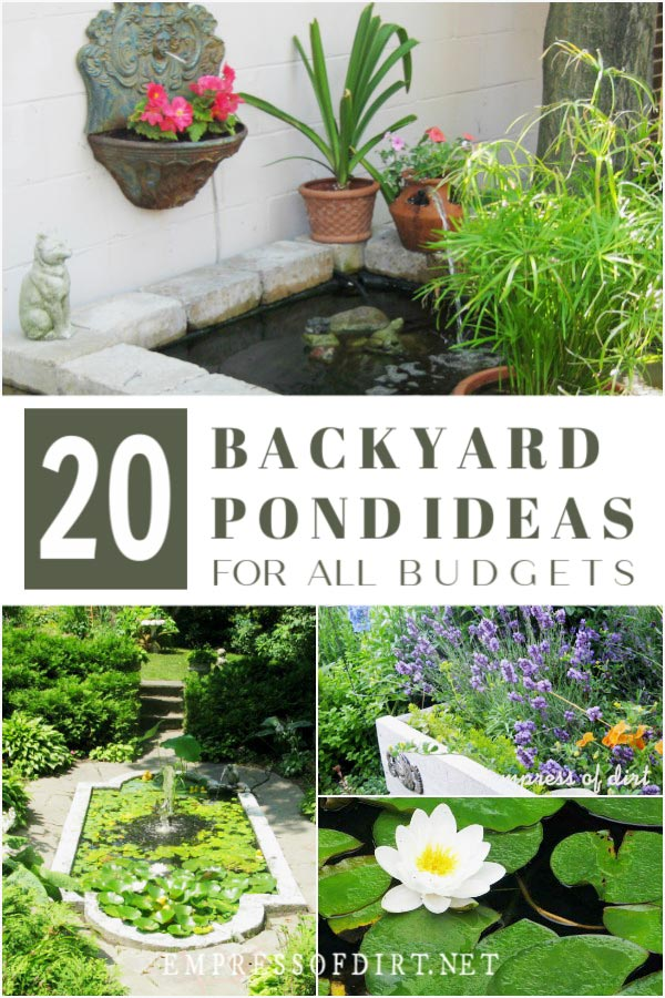 20 Beautiful Backyard Pond Ideas For All Budgets | Empress ... on Pond Ideas Backyard id=52001