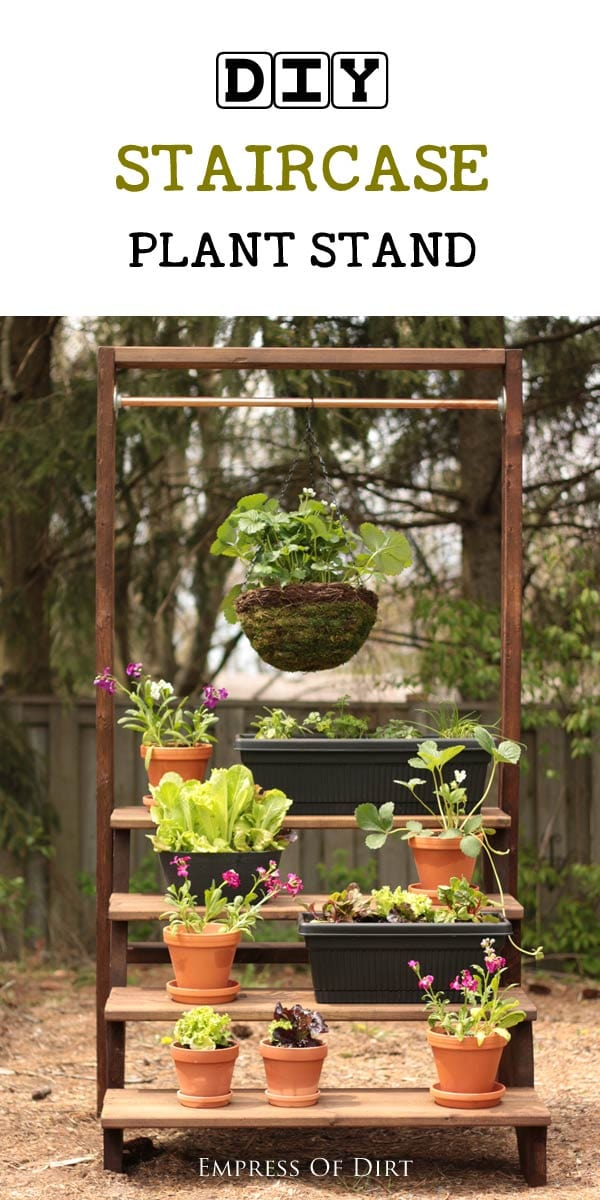 DIY Staircase Plant Stand - Empress of Dirt on Hanging Plant Stand Ideas  id=83817
