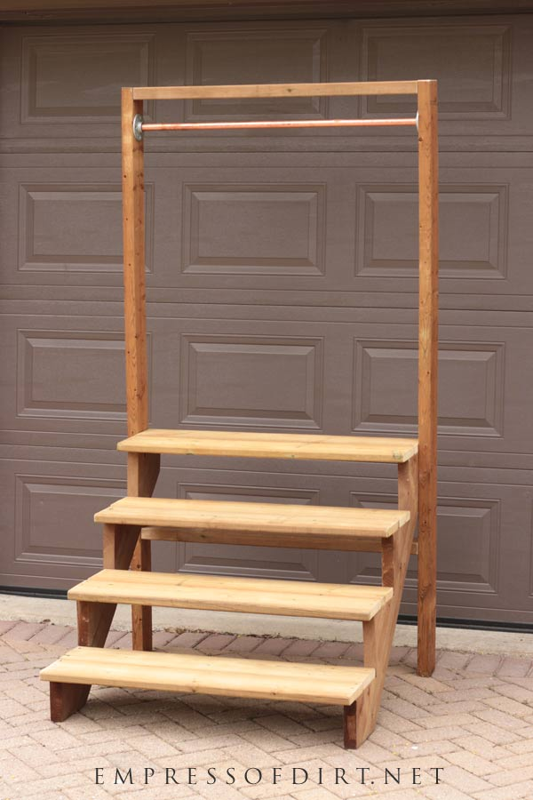 How to Build a Simple Staircase Plant Stand   Empress of Dirt on Stand For Hanging Plants  id=75698