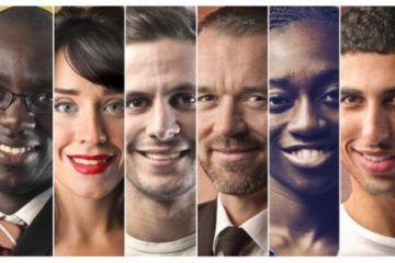 imagem com vários rostos simbolizando os 100 mil usuários da uCoencte