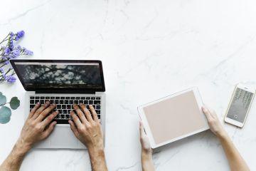 computador, tablet e celular representando o empréstimo online