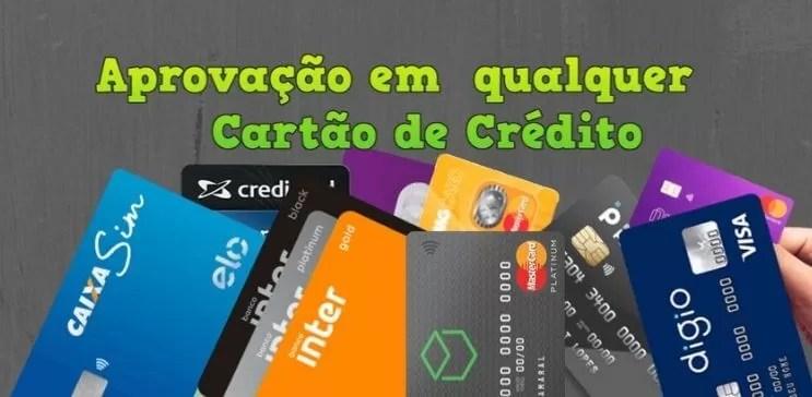 aprovação em qualquer cartão de crédito