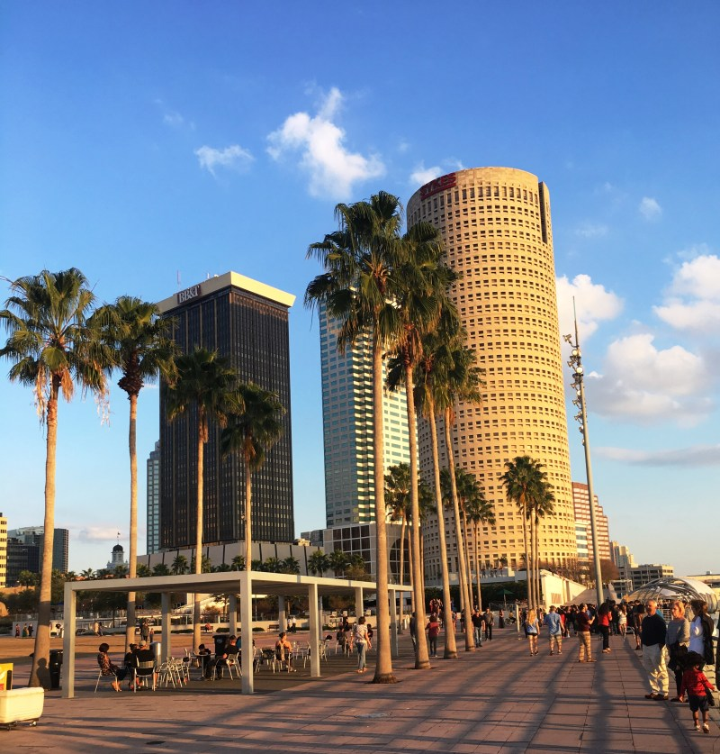 Tampa Has A Riverwalk? 1 Tampa Bay's River Walk Did you know that Tampa, Florida has a boardwalk? I did not. What a pleasant and fun discovery that was.  The River Boardwalk is a n