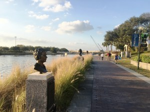 tampa, Florida, river walk, boardwalk, Historical Monument Trail