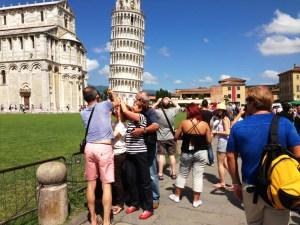 tourists, Pisa, Italy