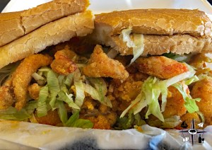 crawfish, po-boy, Louisiana, Shreveport, Bossier City, mudbug, seafood, sandwhich