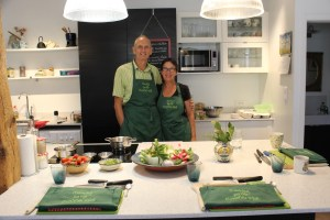 a picture of owners David and Heather of Cooking on the Canal du Midi