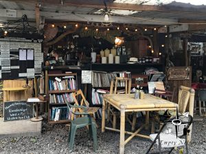 coffee shop and outdoor library at Uncle Robert's