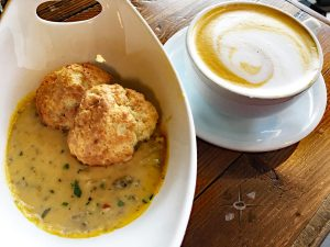 biscuits, gravy and coffee