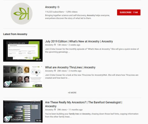 Summer Genealogy Education and YouTube | Empty Branches on