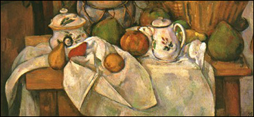 Cezanne still life with table