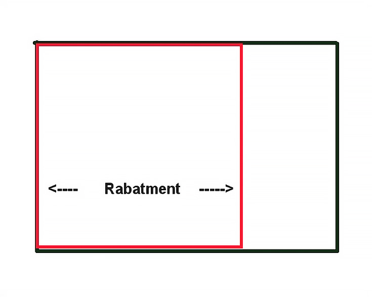 rabatment of rectangle
