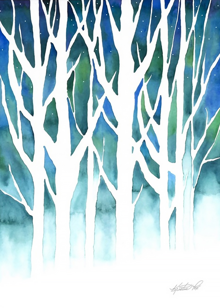 More Holiday Artwork Featuring Christmas Trees Winter