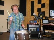 Matt laying texture loops in studio