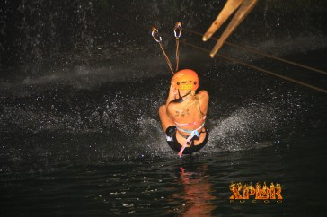 ziplining in mexico xplor excursion water fun couple trip