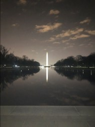 Washington Monument reflecting on the pool