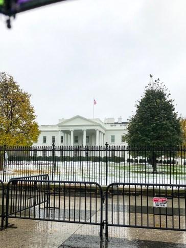 white house, washington D.C., rainy day, snowy day, travel, USA,