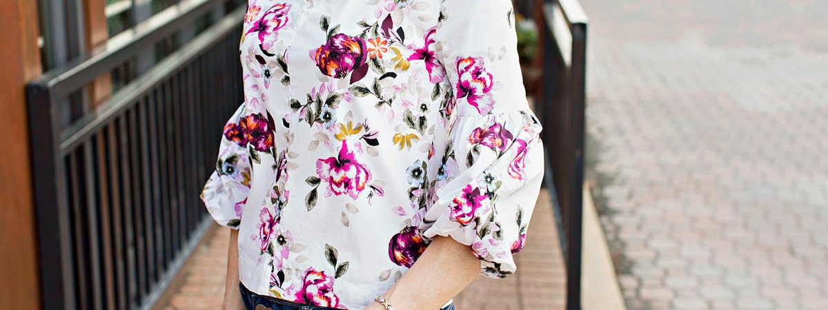 Over Fifty Fashion: Floral Tops for Fall (Trend Alert!)